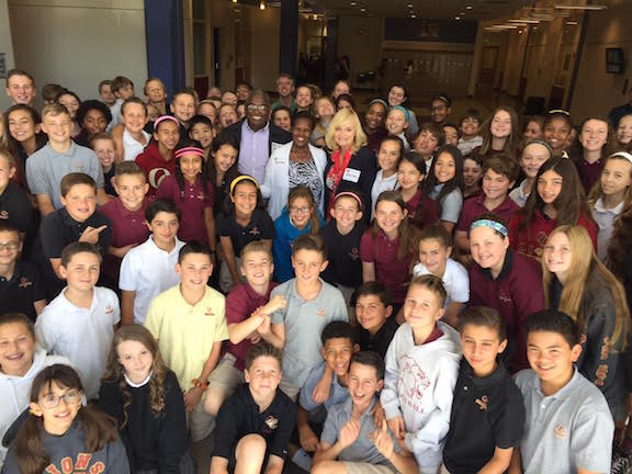 Oaks Christian Sixth Grade with Sharon Daly and Pastor Yoseph and Ribka Menna